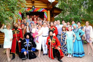 The Cossack ensemble on anniversary