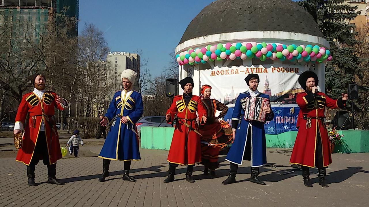 the Cossack ensemble for Easter